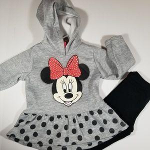 Disney 2T, 2-pc Minnie Mouse Hoodie, Legging Set